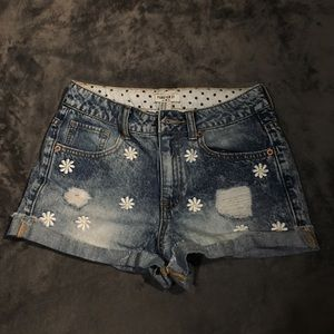 High waisted f21 daisy jean shorts